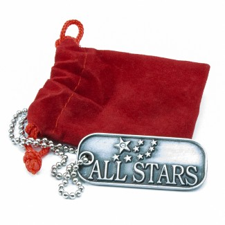 Dog Tag Necklace with All Stars Logo